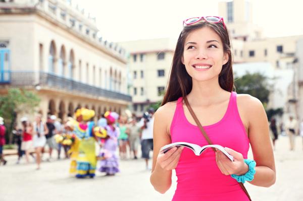Single female tourist in Cuba