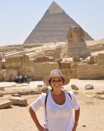 Woman tourist in Egypt