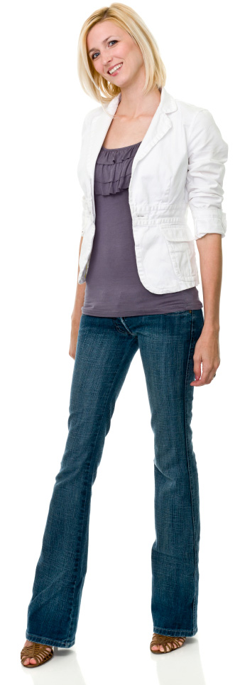 woman wearing jeans to work