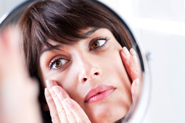 Woman with under eye circles