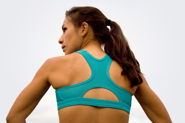 Woman with strong back