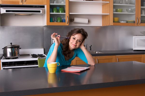 Woman planning meals