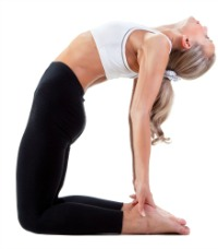 Woman doing yoga stretch