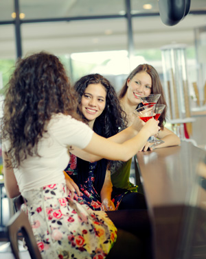 Women having drinks