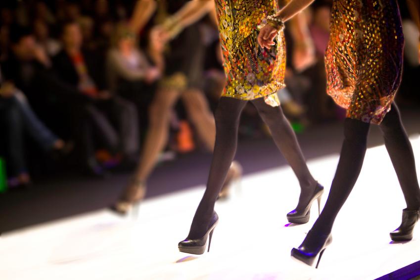 women modeling runway fashions