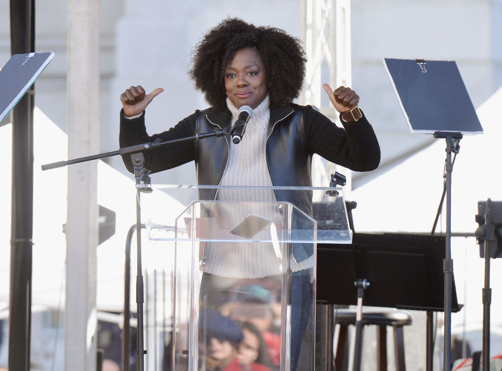 Viola Davis at the 2018 Women's March