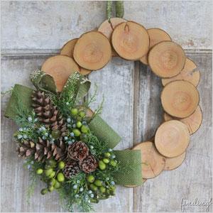 Wood slice and burlap christmas wreath | Sheknows.ca