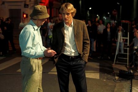 Woody Allen and Owen Wilson film Midnight in Paris