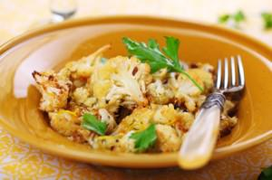 Roasted Cauliflower with Lemon Zest and