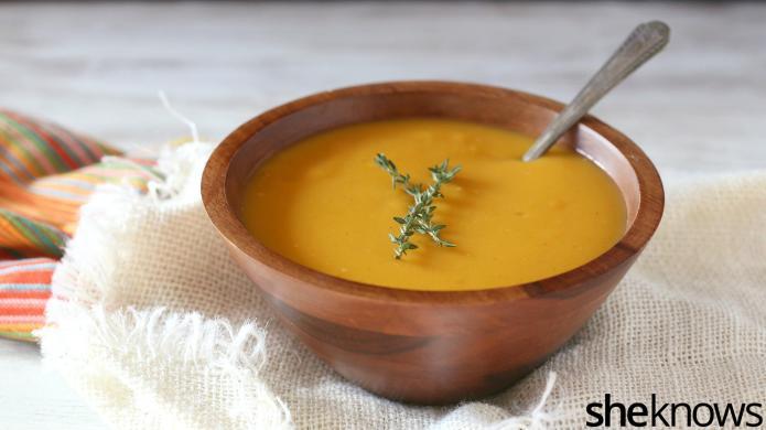 Vegan parsnip-butternut squash soup is a