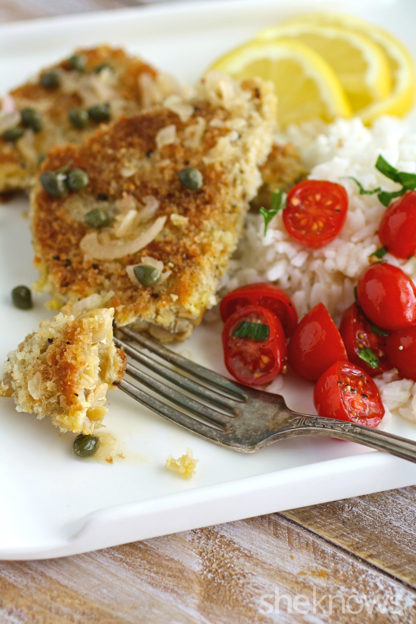 You'll enjoy every forkful of lemony tempeh scallopini with shallots
