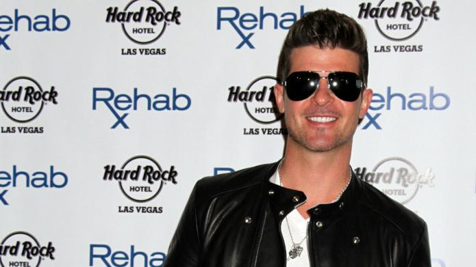 Robin Thicke laying it on thick