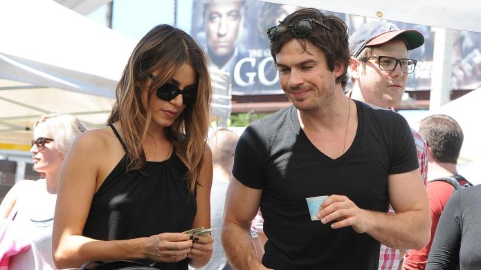 Ian Somerhalder talks farmers market runs