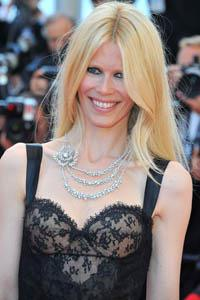 Claudia Schiffer shockingly skinny at Cannes