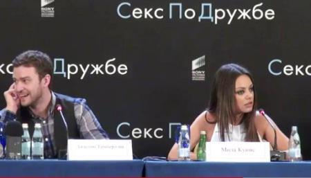 Mila Kunis is Justin Timberlake's Russian