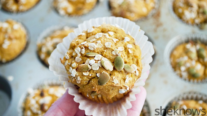 Butternut squash muffins with a sweet