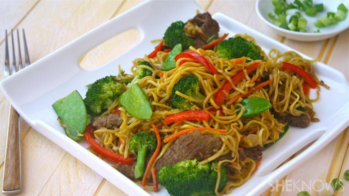 Sunday dinner: Beef chow mein