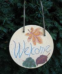 Make a fall welcome sign