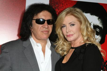 Gene Simmons and Shannon Tweed tie