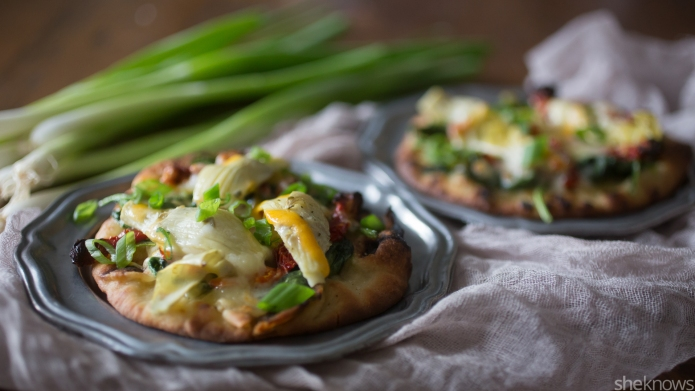 Meatless Monday: Spinach pesto flatbread is