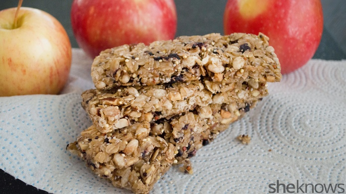 Homemade apple pie protein bars —