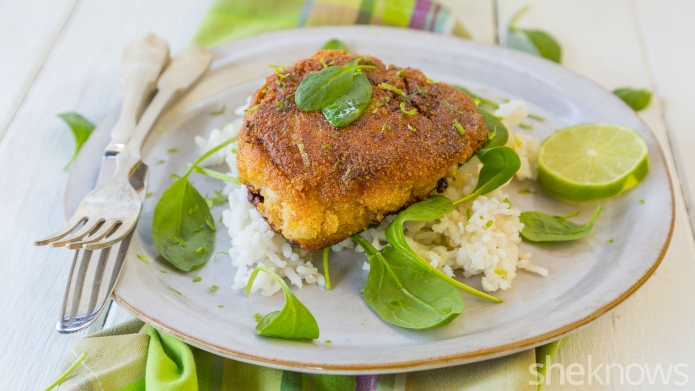 Ginger and lime fried chicken is
