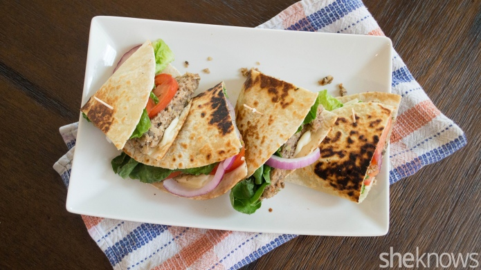 Meatless Monday: Veggie burger quesadillas are