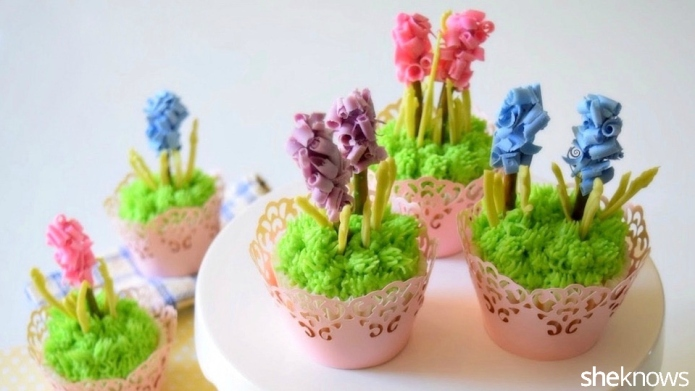 Hyacinth cupcakes are the prettiest way