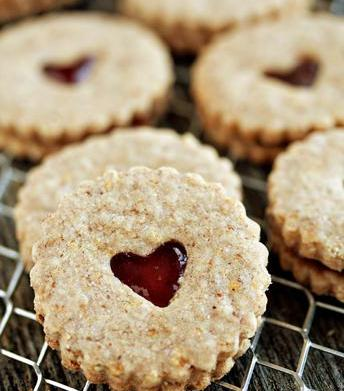 Lemon Scented Linzer Cookies