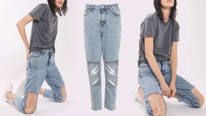 Clear-Knee Mom Jeans: The Fashion Staple
