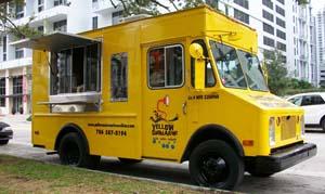 Yellow submarine food truck