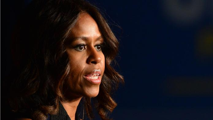 First Lady Michelle Obama Campaigns For