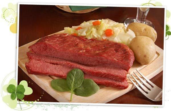 St Patrick's Day party menu