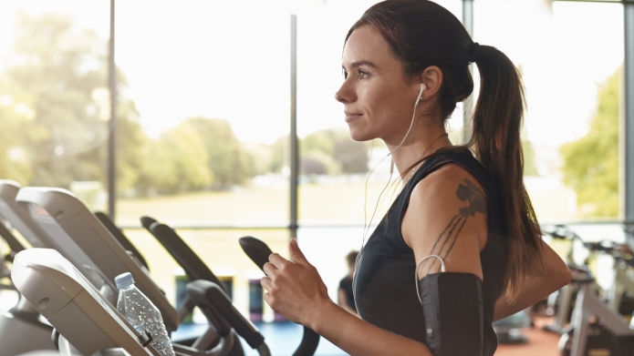 Woman in a gym on a