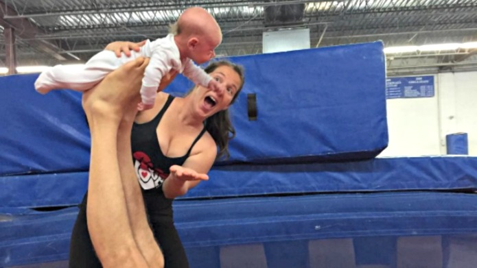 This newborn baby does acro-yoga, and