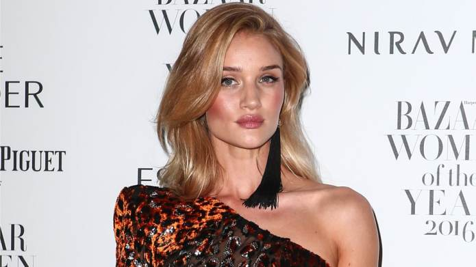 Rosie Huntington-Whiteley Looked at a Horse,