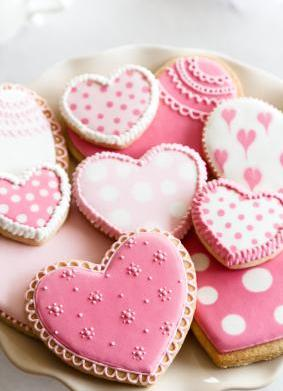 Vegan Valentine's Day Heart Sugar Cookies