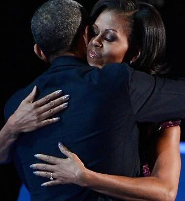 First lady Michelle Obama ignites nail