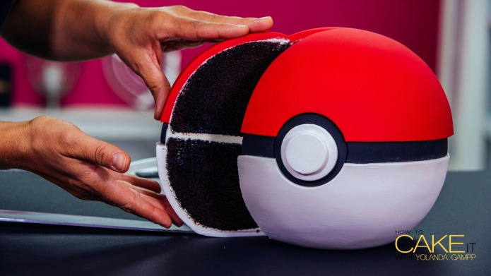 We found the Poké Ball cake