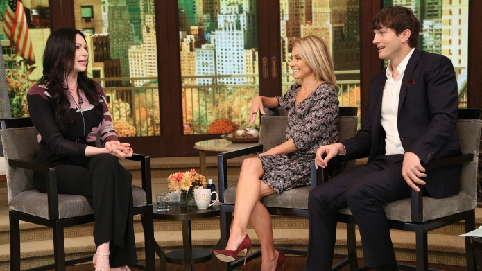 Kelly Ripa and Ashton Kutcher talk