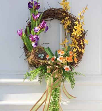 Springtime door decor
