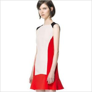 Zara tricolor dress