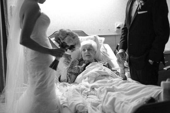 Wonderful grandson brought his wedding to