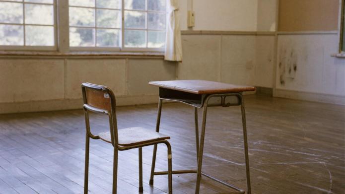 Interior of school classroom