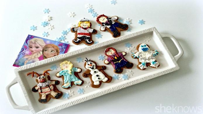 Make Frozen characters as gingerbread men