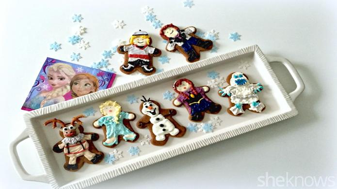 Make Frozen characters as gingerbread men