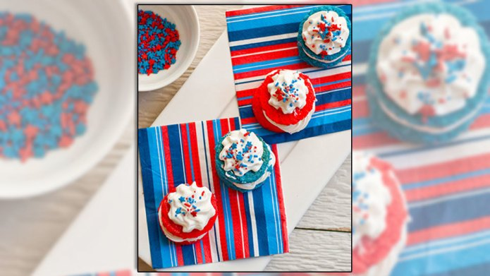 Little handheld 4th of July desserts