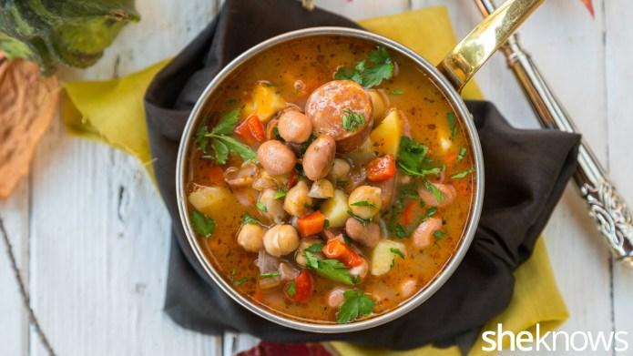 One-Pot Wonder: Chickpea, chorizo and bean