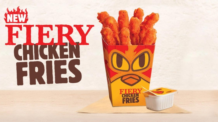 Burger King says new Fiery Chicken