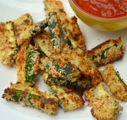zucchini in panko and bake
